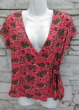 Распродажа!!! много скидок!!! красивая блуза на запах в принт next