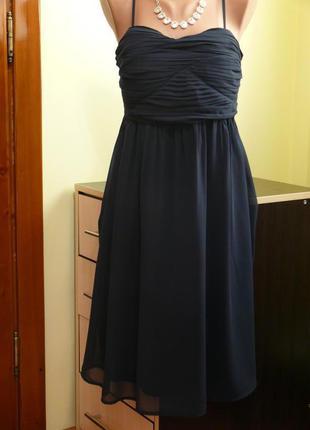 Платье - бюстье черное, шифон
