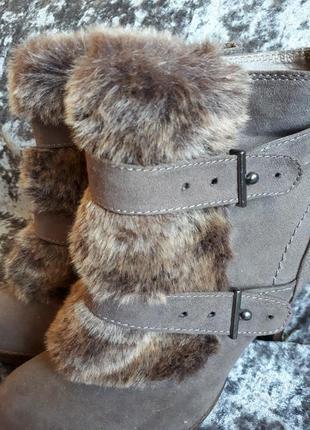 Оригинальный ботинки с мехом