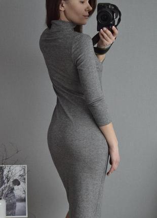 Платье миди в рубчик f&f