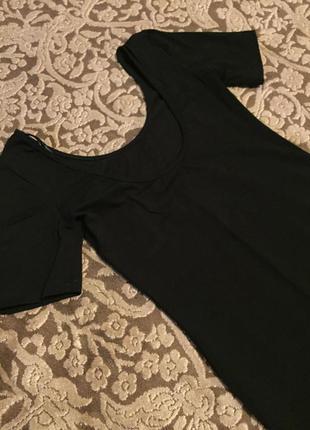Чорное платье мини, короткое
