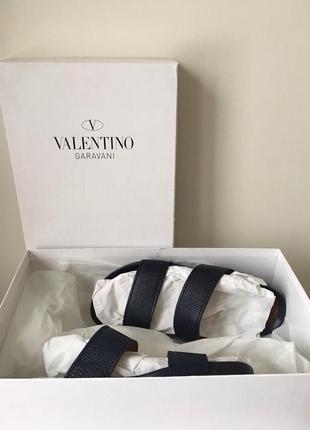 Сланцы valentino кожаные оригинал  мужские