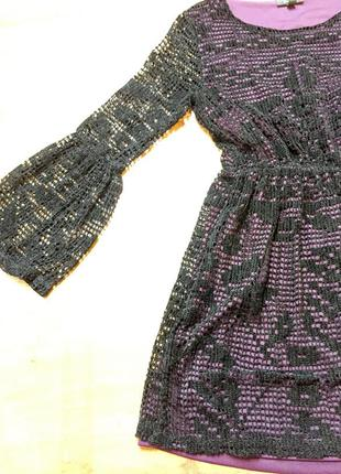 Стильне плаття topshop фіолетове