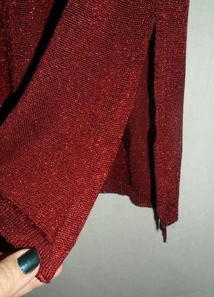 Красное платья из люрексом