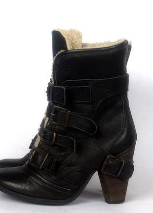 Сапоги -ботинки натуральная кожа