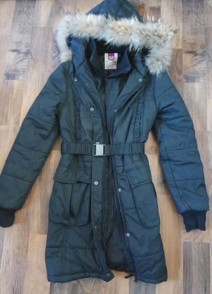 Пальто пуховик зимний s