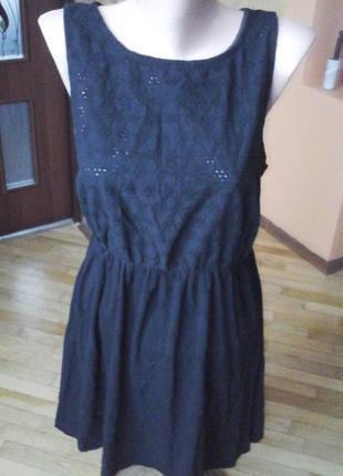 Черное летнее платье фирмы atmosphere