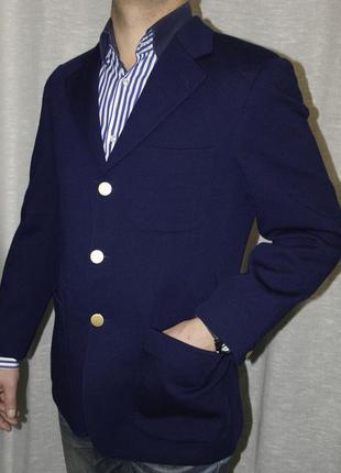Как новый reine schurwolle пиджак для модника жакет синий трикотаж