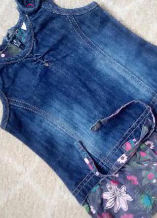 Sale! джинсовый сарафан платье туника prenatal