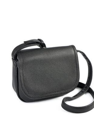 Маленькая сумка через плечо кросс боди черная матовая
