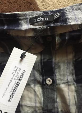 Рубашка с открытыми плечами boohoo