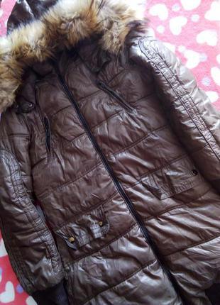 Пуховик куртка пальто бершка мех