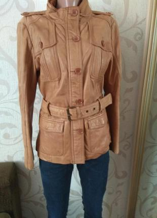 Куртка премиум класса натуральная кожа stradivarius!