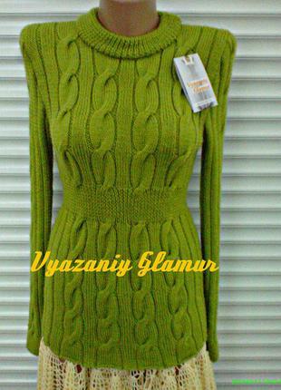 Вязаный свитер *косички*