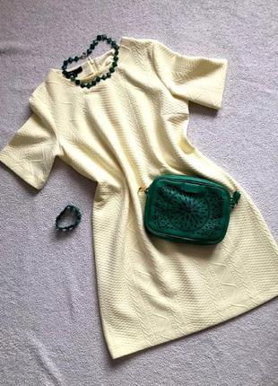 Весеннее плотное свободное платье oodji