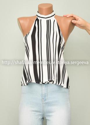 Большой выбор блуз - стильная полосатая блузочка под горло