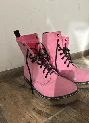 Розовые ботинки tally weijl осень