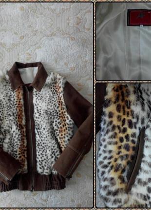 Кожаная куртка, vera pelle италия, размер xl