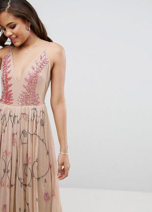 Asos maya роскошное декорированное макси-платье