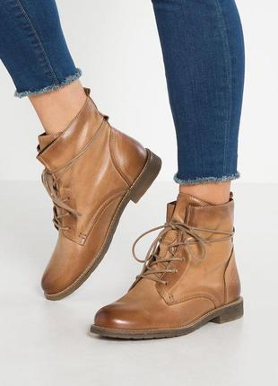 Р40.5-41 pier one,германия, натуральная кожа! утепленные, лёгкие, суперкомфортные ботинки