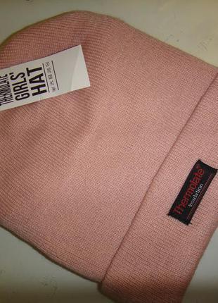 Демисезонная шапка на девочку thermolate insulation 6-12 лет