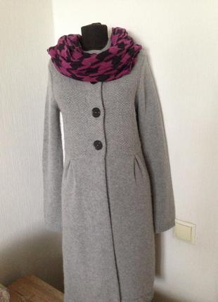 Брендовое вязаное пальто,  кардиган от boden . шерсть, альпака.
