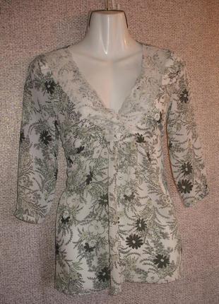 Легкая кофточка / блуза на весну лето. бренд h&m. размер eur 34