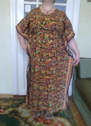 Замечательное платье в свободном стиле на любую фигуру размер наш 58-62