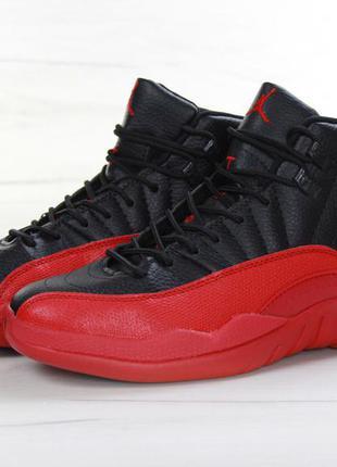 Крутые мужские черные кроссовки nike air jordan 12 41 42 43 44 рр
