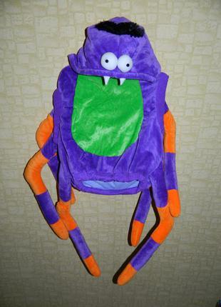 Костюм карнавальный паук фиолетовый с оранжевым dunnes на 1-3 года