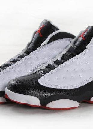 Мужские черно-белые кроссовки nike air jordan m 13 41 42 43 44 рр
