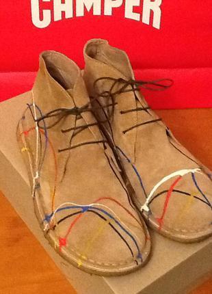 Замшевые ботинки camper 40-41( 27)  на широкую ногу
