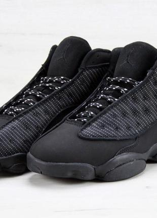 Черные мужские кроссовки nike air jordan 13 41 42 43 44 45 рр