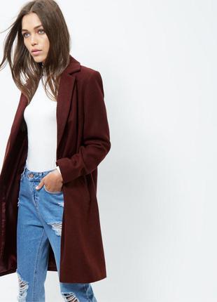 Пальто цвет марсала