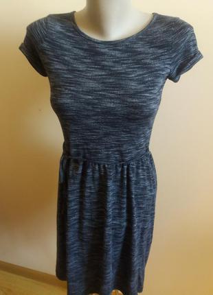 Красиве темне платтячко в полоску короткий рукав new look xs!скидка -15%