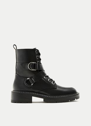 Новые ботинки на шнуровке pull&bear (36,37,38,39,40)