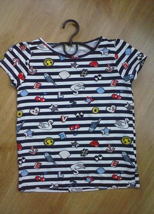 Продаю отличную футболочку h&m на девочку 9-10 лет