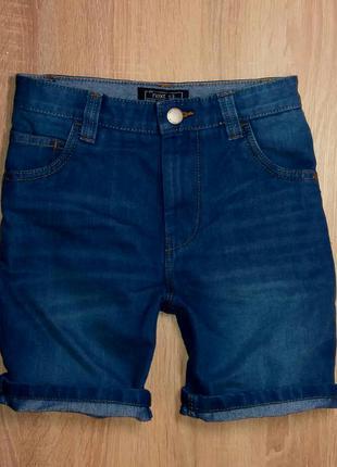 Ярко-синие джинсовые шорты next,рост 128 см (8 лет),2017 г.