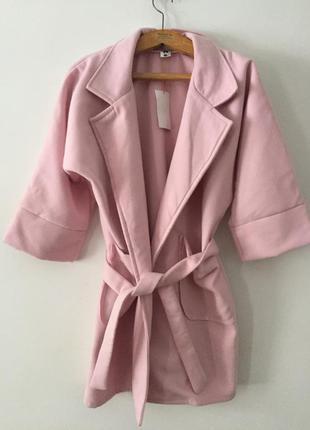 Ніжне кашемірове пальто-халат ! нове ,з быркою !
