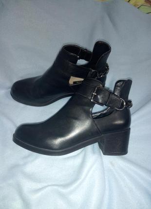 Ботинки сапожки осенние pull&bear