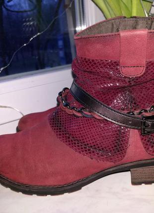 Кожаные ботинки tamaris 41 р