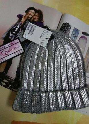 Срібна шапка-металік від бренду h&m! з німеччини!