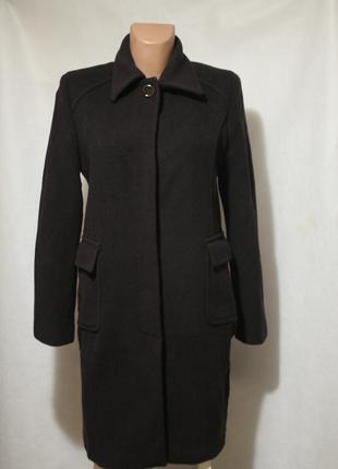Шерстяное пальто grigiombra. италия. 100% шерсть