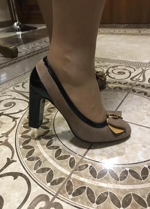 Шикарные туфли/натуральная кожа/замша