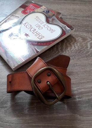 Коричневый кожаный ремень sweden h&m
