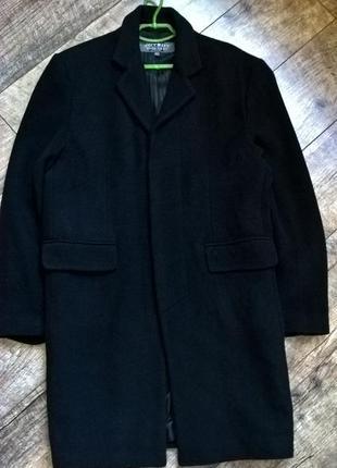 Классическое черное шерстяное прямое пальто от joyboy -l-ка