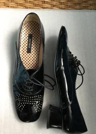 Туфли кожаные navyboot  лаковые