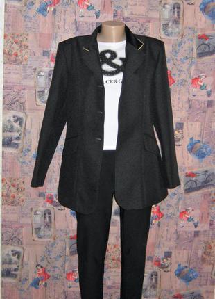 Класический, пиджак с плюшевым воротником