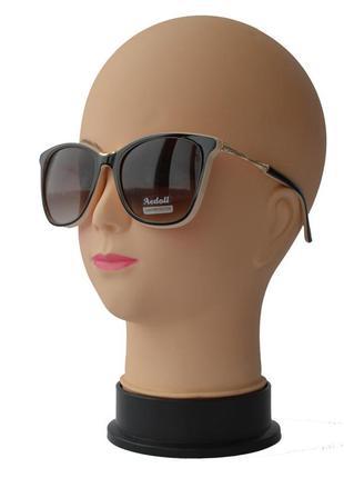 Женские солнцезащитные очки aedoll 8204 коричневые с бежевым