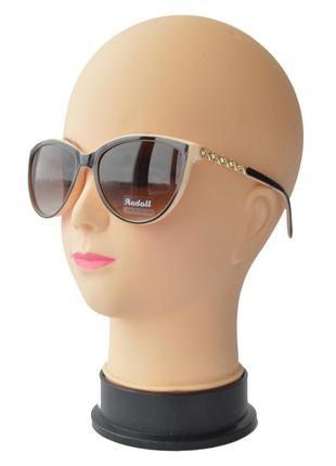 Женские солнцезащитные очки aedoll 8205 коричневые с бежевым